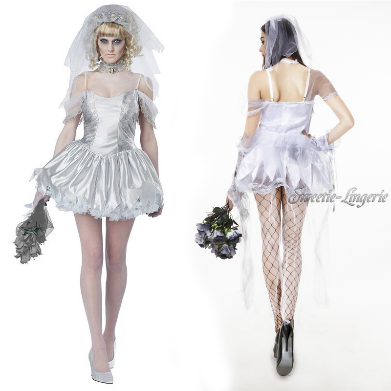 Online get cheap sexy bride halloween costume aliexpress for Sexy wedding dress costume