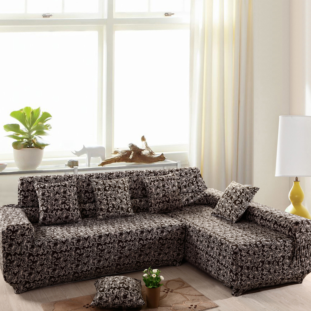 yazi Chic Butterfly Stretch Polyester One Two Three Seater Sofa ...