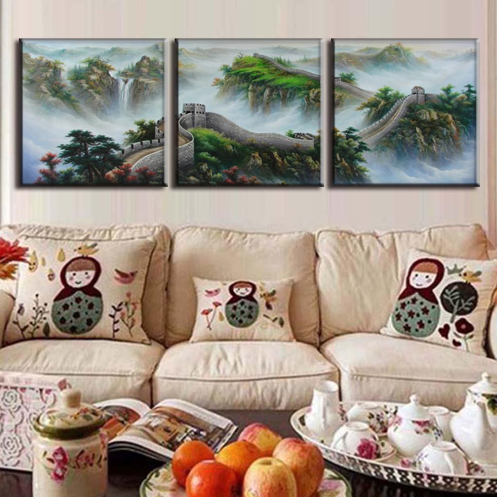 Increíble Pinturas Al óleo Sobre Lienzo Enmarcado Composición ...