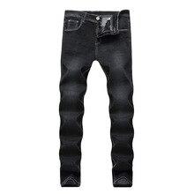 330dd9cbf Novo 2019 a Europa e Estados Unidos os homens jeans stretch reta cultivar a  moralidade jeans