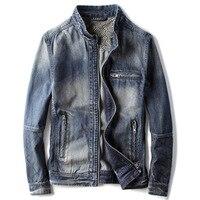 Автомобильный стиль джинсовая куртка для мужчин сезон весна осень ковбойская Мужская джинсовая куртка и пальто уличная хорошая C1462