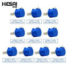 3590S-2-103L 3590S 10K ohm Precision Multiturn Potentiometer 10 Ring Adjustable Resistor 3590S 500 1K 2K 5K 20K 50K 100K ohm
