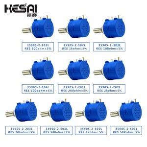 3590S-2-103L 3590S 10K ohm Precision Multiturn Potentiometer 10 Ring Adjustable Resistor 3590S 500 1K 2K 5K 20K 50K 100K ohm(China)