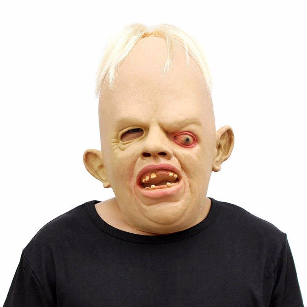 Terrible monstre Latex masque pleine tête visage respirant Halloween Cosplay déguisement fête masque pour adulte hommes femmes