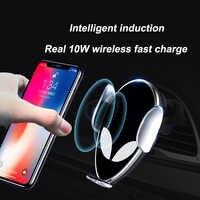 10W Qi bezprzewodowa ładowarka samochodowa dla Xiao mi mi X 2S mi 9 iPhone X Samsung S9 szybko Wirless ładowania samochód automatyczne mocowanie uchwyt na telefon