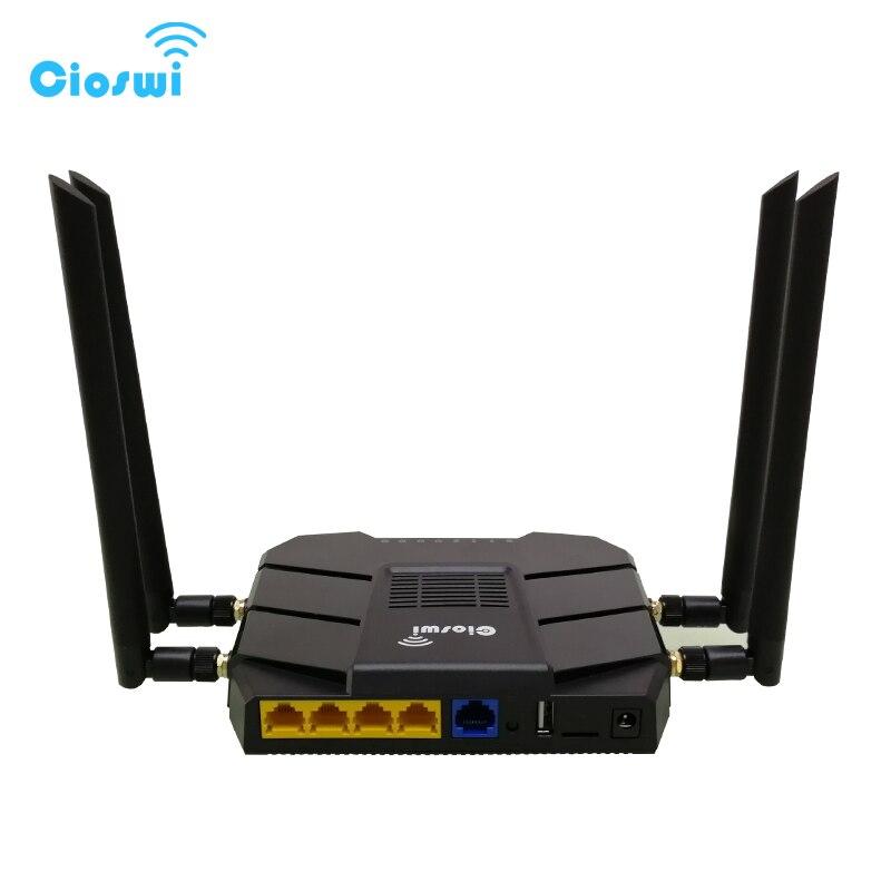 Routeur Wi-fi 4g gigabit double bande 11AC 1200 Mbps 5G routeur modem vdsl avec qos, emplacement pour carte sim et emplacement pci-e routeur mtk