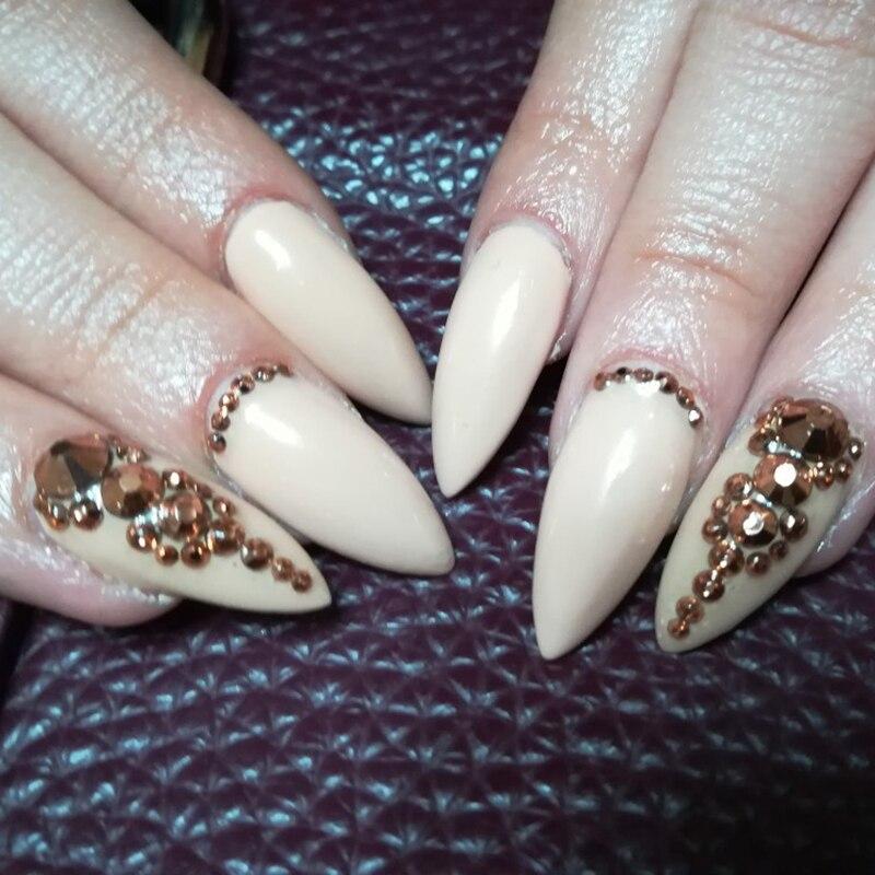 Blandet størrelse SS3-SS30 Rose Gold Crystal 3D Nail Rhinestones - Negle kunst - Foto 3