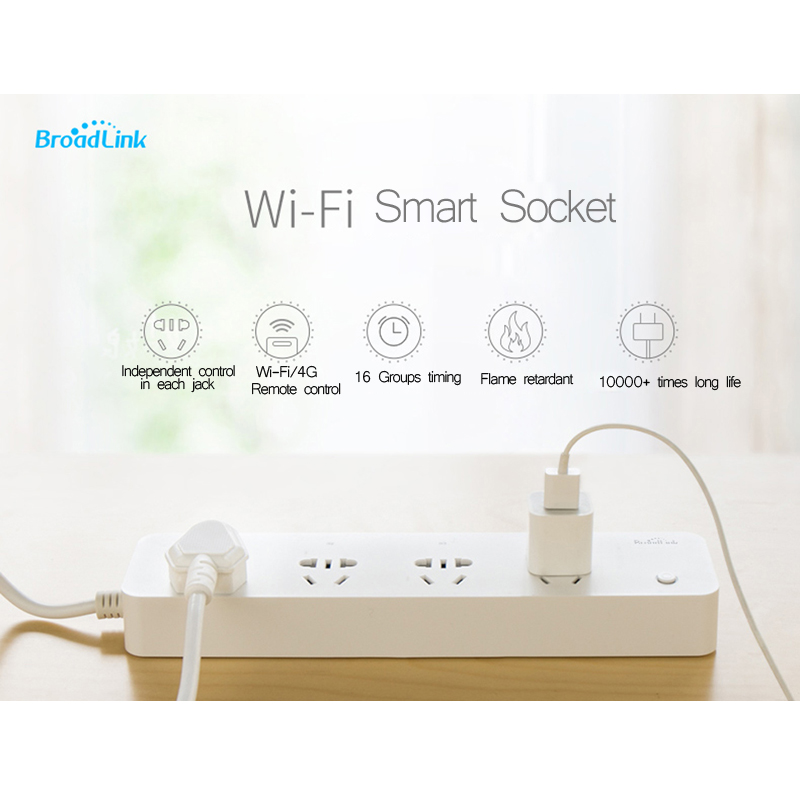 Broadlink MP1 wireless wifi socket strip 3G 4G remote control controller timer outlet smart outlet for smart home automation