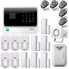 2016 2.4G Teclado Táctil Sistema de Alarma de Seguridad Inalámbrica WIFI Hogar IOS Android APP Control Remoto Detector de Fugas de Gas