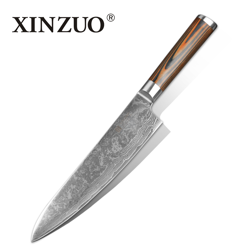 buy 8 inches chef knife high quality 73 layers japanese vg10 damascus steel. Black Bedroom Furniture Sets. Home Design Ideas