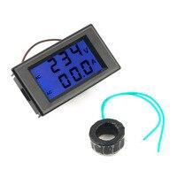 1 Pcs Black AC Digital Ammeter Voltmeter LCD Panel Amp Volt Meter 100A 300V 110V 220V