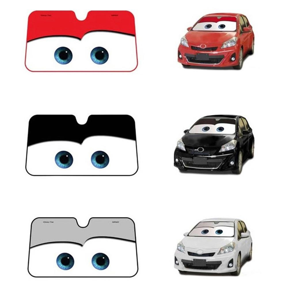 Image 3 - 5 Colors Eyes Heated Windshield Sunshade Car Window Windscreen Cover Sun Shade Auto Sun Visor Car covers Car Solar Protection-in Windshield Sunshades from Automobiles & Motorcycles