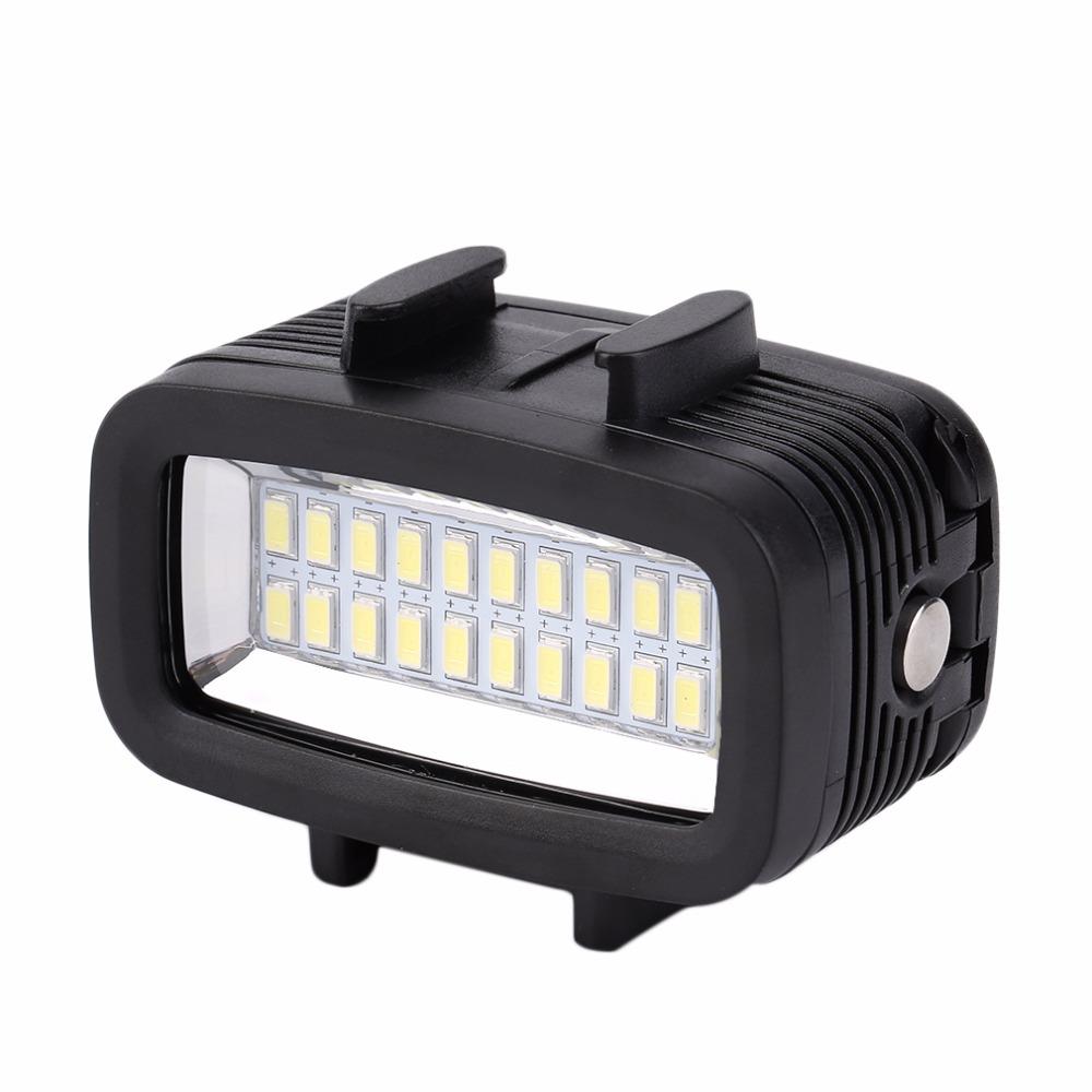 Prix pour 30 M Étanche Super Lumineux Sous-Marin LED Vidéo Lumière Camera Action Plongée Lampe Adapté Pour GOPRO Black