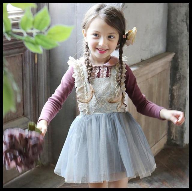 552b45cd820 Sweet Kids Girl party Dress vintage Toddler Girls backless lace clothing  2-7Yrs Princess baby Birthday Wedding vestido