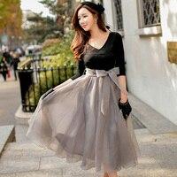Original 2016 Brand Spring Autumn Vestidos De Fiesta Largos Elegantes Plus Size Vintage Tulle Maxi Party