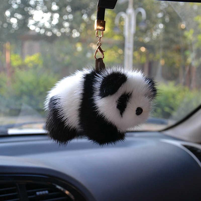 Норковая шерсть красная панда ручной работы меховой кулон обертывание автомобиля ремни Meng игрушки плюшевые брелоки ремешки