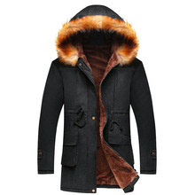 High Quality Men Coat New Winter Keep Warm Male Clothing Young Men's Hooded Parkas Solid Color Casual Jackets Fashion Hot Sale