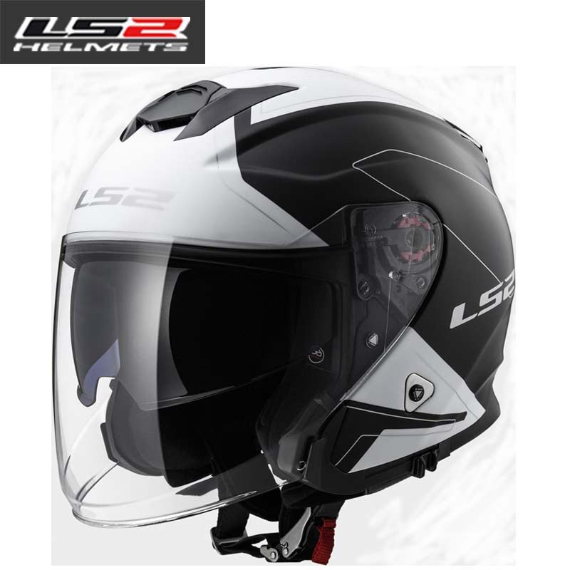 LS2 of521 half face vintage motorcycle helmet Fiber glass retro racing motorbike helmet 3/4 open face vaspa moto helmets