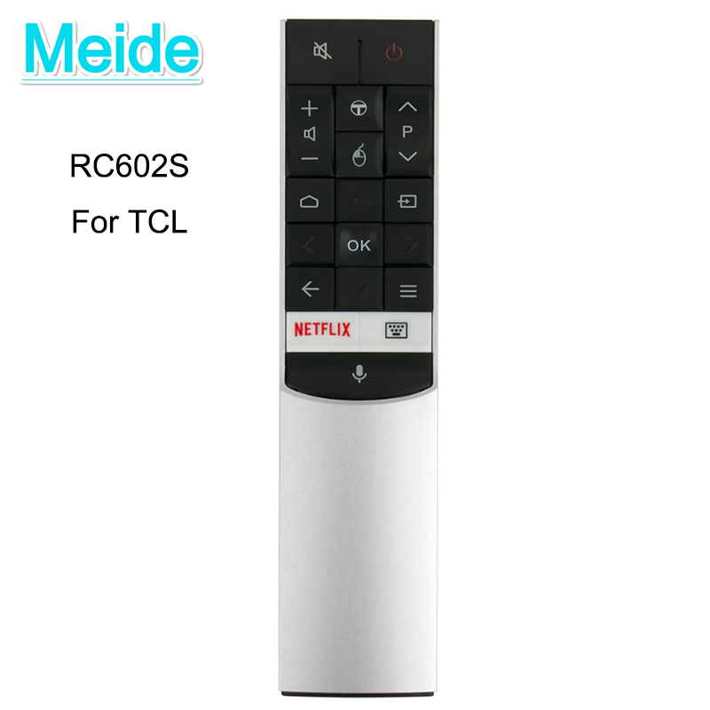 TCMeide New Original Voice Remote Control RC602S for TCL TV Smart TV C70 X1 P60 and X2 Series with Netflix Opener bsc29 0185s 37 fcc002 fbb1a transformer for tcl tv