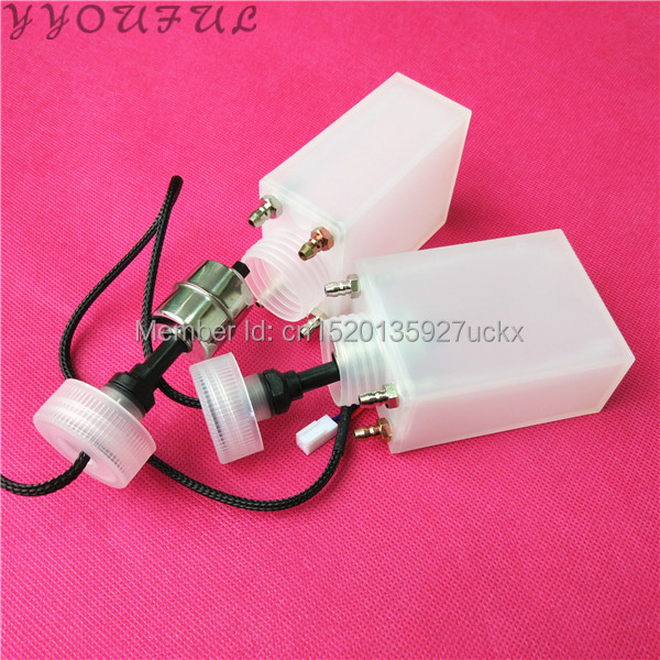4pcs lot Inkjet printer sub ink tank 4 holes for Seiko printhead Infinity Challenger Phaeton Zhongye