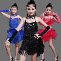 Children S Latin Dance Skirt Performance Clothing Girl S Dance Performances Summer Vestidos