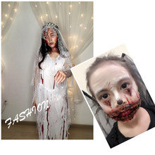 Drop Ship Halloween Cosplay Skin Wax Pad Nose Knife Scars Wrist Flesh Color Cover Eyebrows Art Shaping Special Effects Makeup(China)