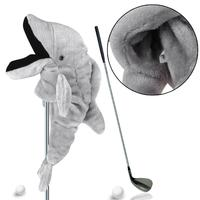 Dolphin Head Golf Club Guard Cover Golf Accessories Wood Head Protective Anti Dust Cover Golf Club