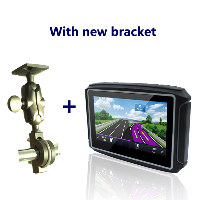 Latest 4.3 waterproof motorcycle gps navigation with 8G flash+High Light Screen+IPX7+Bluetooth