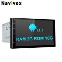 Navivox 7'' 2 din car radio with Android 7.1.1 2G Ram Quad Core Universal Radio GPS Stereo Audio Player for nissan no dvd