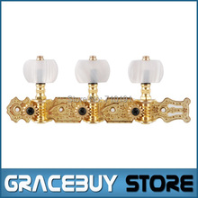 Alice AO-020V1P Gold-Plated 3 Machine Head (Long) Classical Guitar String Tuning Keys Pegs New