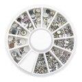 5 Пакеты Новый Горячий Продажа 5 Размеры Белый Многоцветный Акриловые Украшения Искусства Ногтя Блеск Стразы