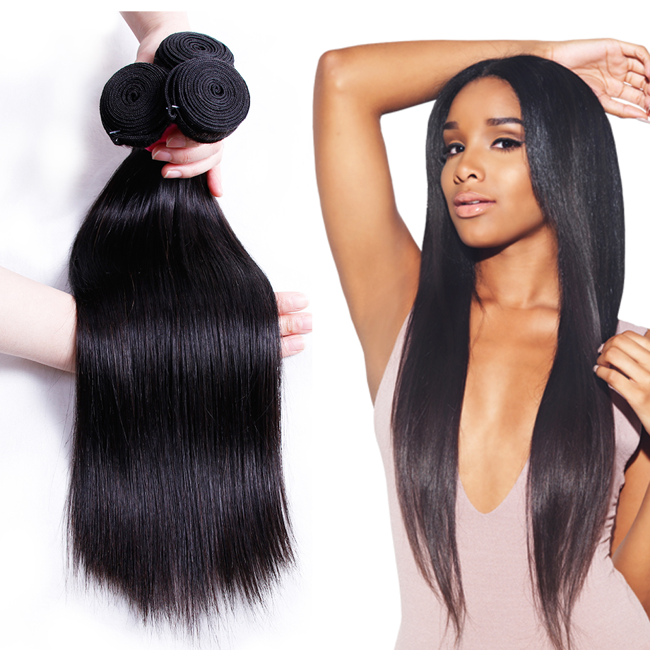 Piaoyi Indian Straight Hair Weave Bundles 1 Pcs Only Natural Black Color Human Hair Weave Extension Non Remy Hair Free Shipping