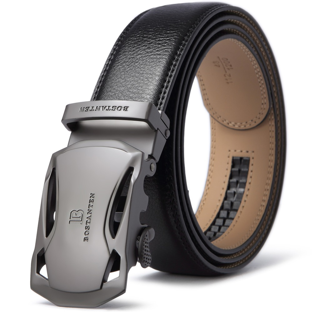 BOSTANTEN Automatic Vintage   Belt   Men Waist Strap Luxury Brand Designer   Belts   Automatic Buckle Ceinture Homme With Box