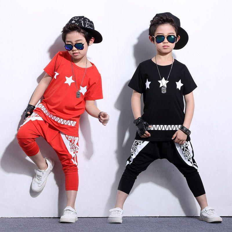 Children Hip Hop Clothing set Boys Harem Pants Boy Jazz Dance Clothes Popping Dance Costume Set T-shirt For Boy Harm Pants Suits boys trackpants kids winter pants children trousers full length boy harem pants children clothing brand boys clothes