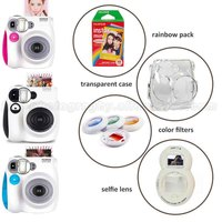 Genuine Fuji Fujifilm Instax Mini 7s Instant Camera And Camera Set With Rainbow Mini Film Selfie