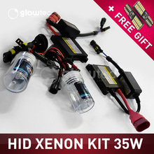 35W DC XENON HEADLIGHT HID KIT SLIM BALLAST Bulbs H1 H3 H7 H8/9/11 9005 9006 ALL COLORS 4300K 6000K 8000K 10000K 12000K GLOWTEC