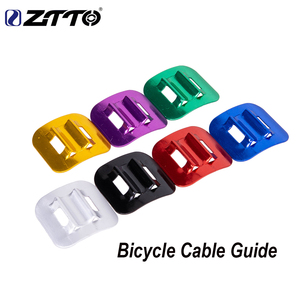 Ztto 2 pçs mtb bicicleta de alumínio c tipo u fivela de freio a disco snap shifter braçadeira fixa quadro conversão cabo guia