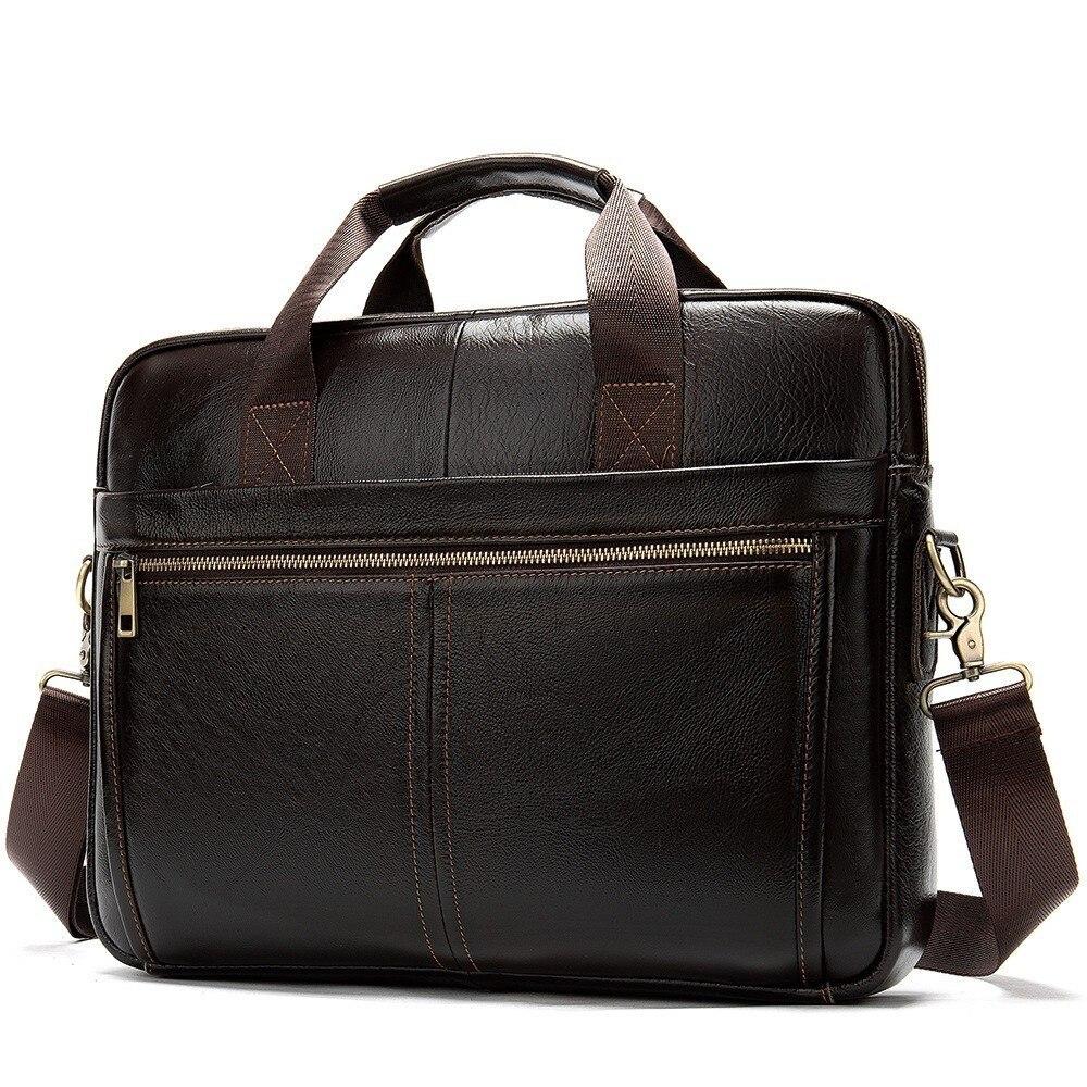 Briefcases Handbags Messenger-Bag Lawyer Business-Man Men's For Genuine-Leather