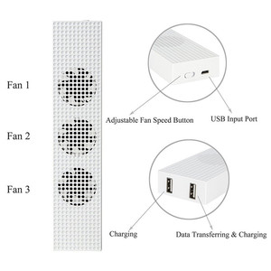 Image 4 - OIVO ventilador de refrigeración para Xbox One S, Enfriador de conexión Micro USB ajustable incorporado con 3 ventiladores de alta velocidad para consola Xbox One S