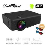 Poner Saund LED GP10 Mini Projector Wired Sync Display Home Theater Android Support Full HD LED projector Beamer Video Proyector
