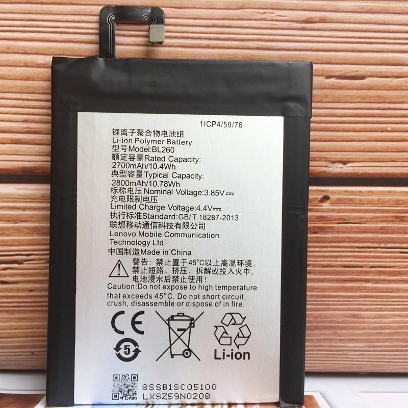 NEW Original 2800mAh BL260 Battery For Lenovo Vibe S1 Lite S1La40 Cell Phone Batteries