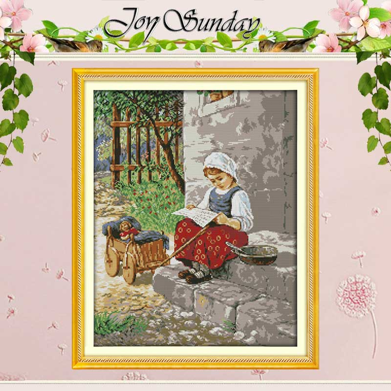 NOU !! Fata de tânăra numită Cross Stitch 11CT 14CT Cross Stitch Kituri de cusaturi cruce chinezești pentru broderie Home Decor Needlework