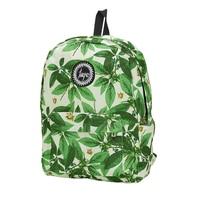 2017 Fashion Women Green Leaves Print Backpack Teenagers Nylon School Bag Laptop Book Girls Travel Backpacks
