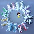 Ассорти Цветов 7.5 см Холст Обувь Для BJD Куклы Toy1/4 Мини Кукла кроссовки Обувь для 16 Дюймов Шарон кукла Сапоги