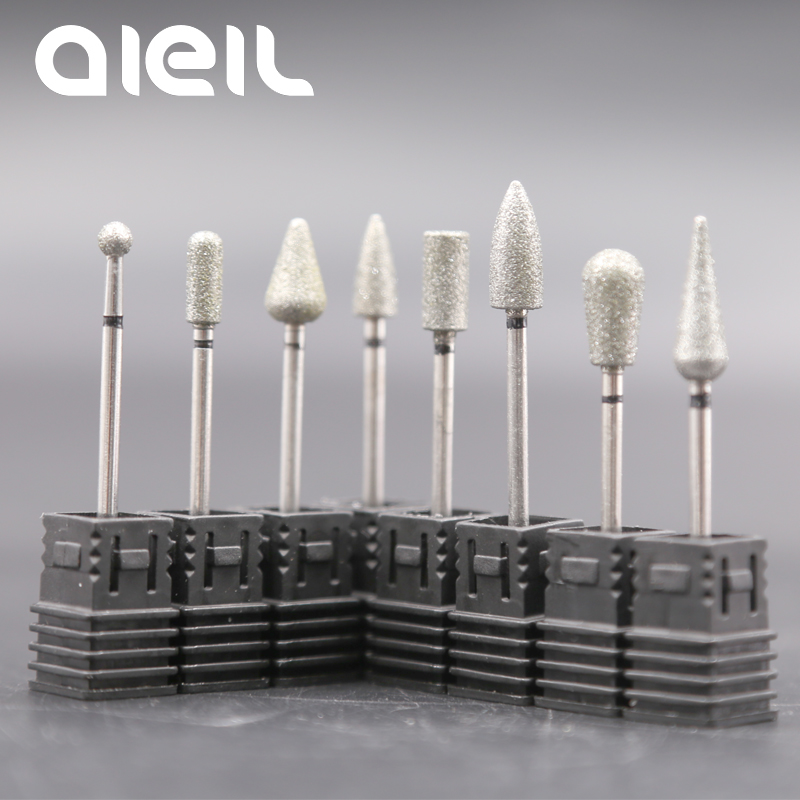 Nail Drill Bit Cuticle Carbide Diamond Nail Drill Bit Manicure Machine Milling Cutters For Manicure Nail Electric Manicure Drill