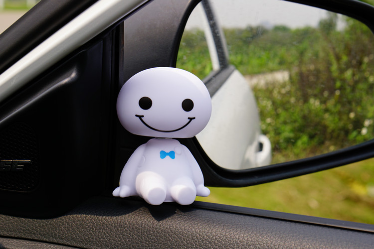 Bobblehead Baymax Figurine Car Dash Ornaments Cute Shaking Head Toys For Car Vehicle Auto Dashboard Decoration Balloon Interior