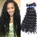 Cheap Peruano Virgem Cabelo Onda Profunda 3 pacotes annabelle cabelo Peruano Onda Profunda Feixes de Cabelo Ondulado Encaracolado Profundo