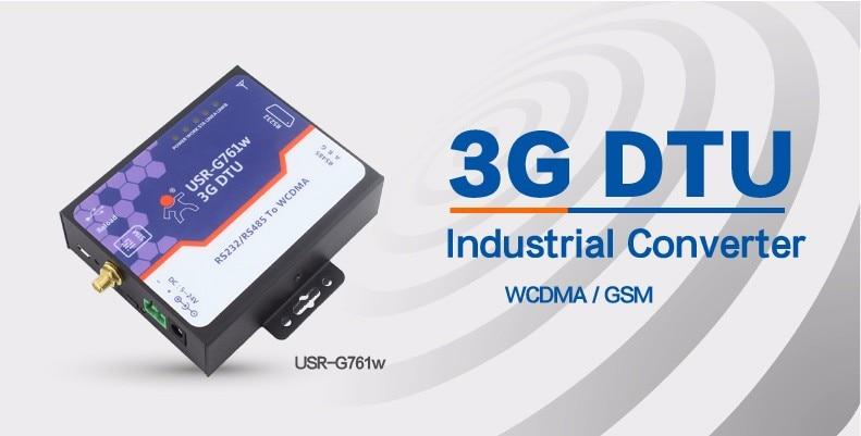USR-G716W 3G WCDMA Modem, RS232 RS485 Serial to 3G DTU (3G WCDMA DTU) Q19485 simcom 5360 module 3g modem bulk sms sending and receiving simcom 3g module support imei change
