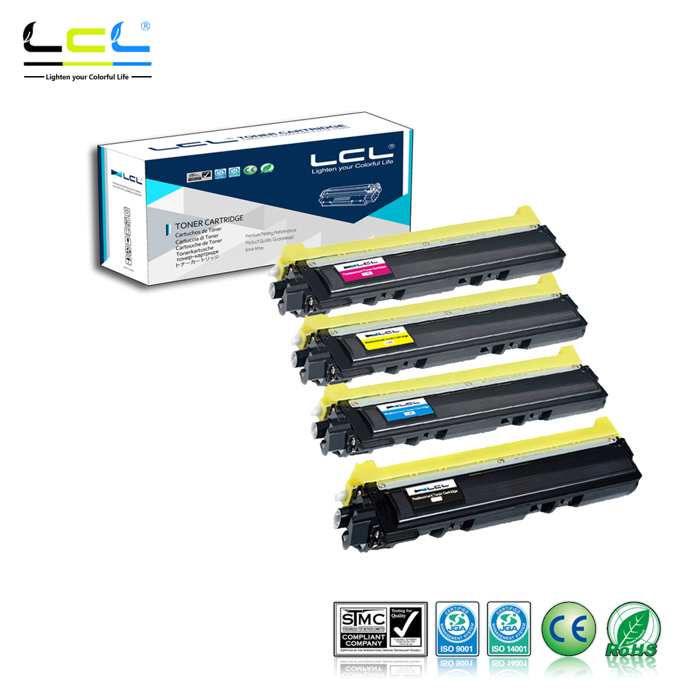 LCL TN210 TN230 TN-290 (4-Pack KCMY) Toner Cartridge Compatible for Brother HL-3040/3070/DCP-9010CN/MFC-9120/9320/HL-3045CN