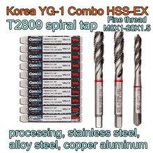 M8X1.0 20X1.5 corée YG 1 Combo HSS EX T2809 traitement du robinet en spirale, acier inoxydable, acier allié, cuivre aluminium etc.